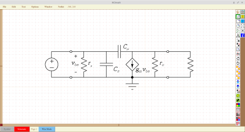 Drawing circuit diagrams in XCircuit.