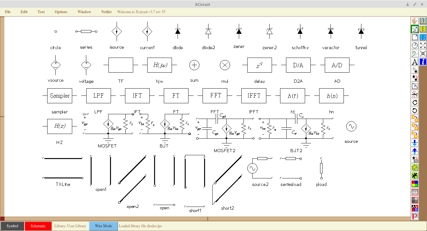 Xcircuit A Simple But Powerful Schematic Drawing Tool Arraytool