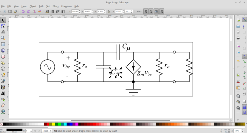 One can export circuit diagrams as .svg files and edit them further in Inkscape